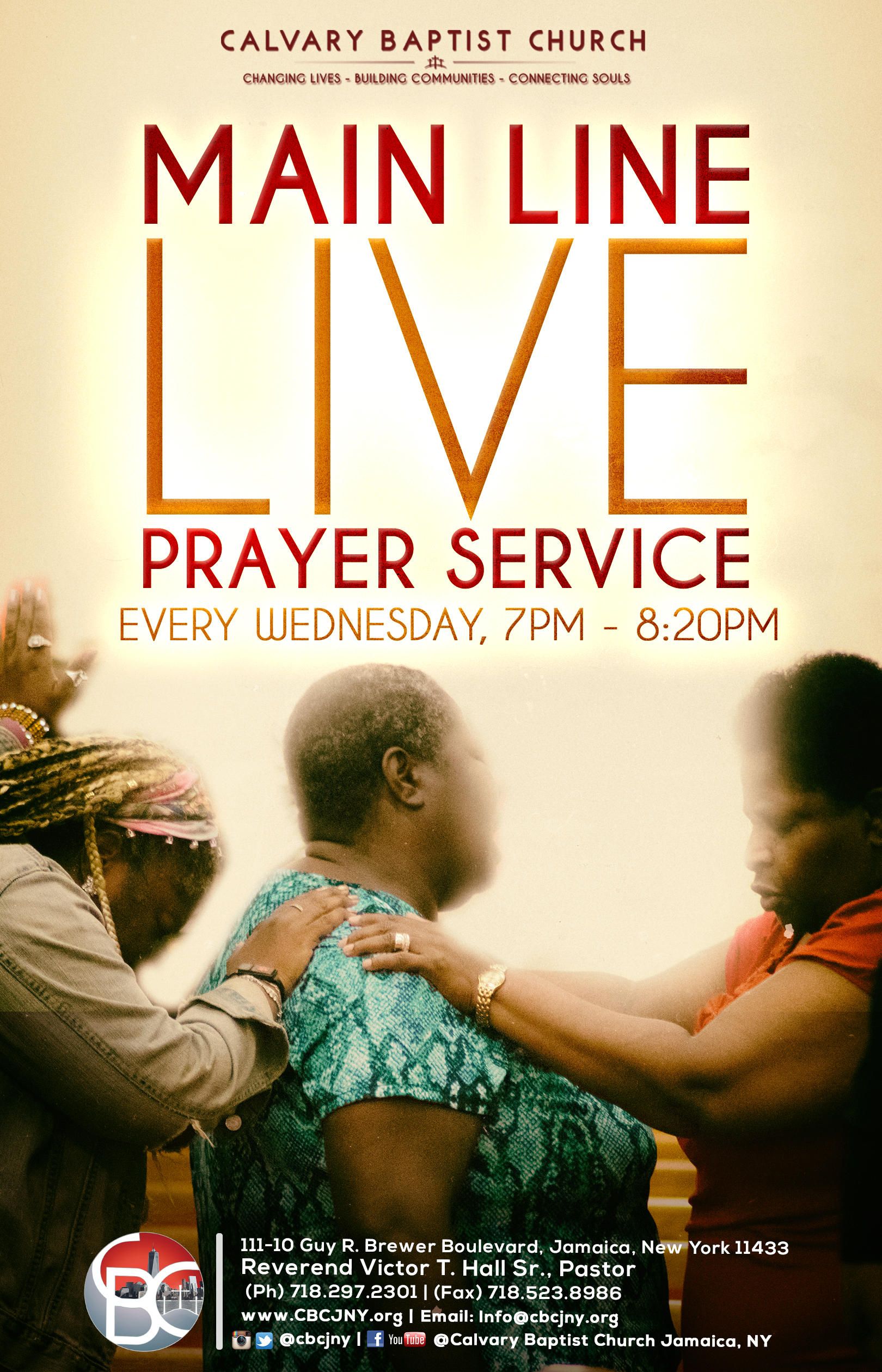 Main Line Live prayer service flyer