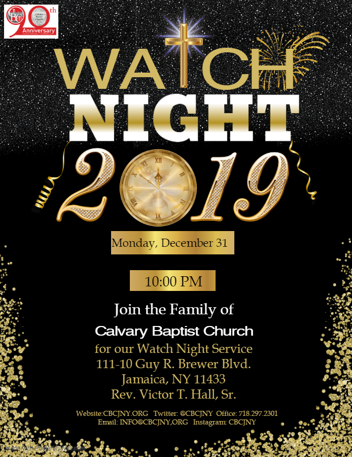 2019 Watch Night - Made with PosterMyWall